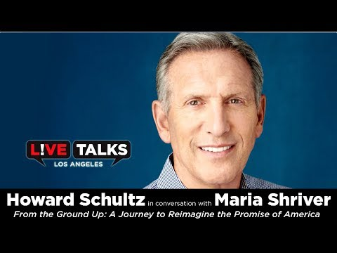 Howard Schultz in conversation with Maria Shriver at Live Talks Los Angeles