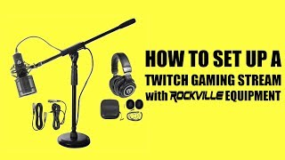 Twitch Gaming Live Stream Rockville Equipment SETUP for OBS (For Fortnite)