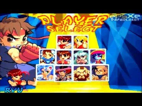 pocket fighter sony playstation rom