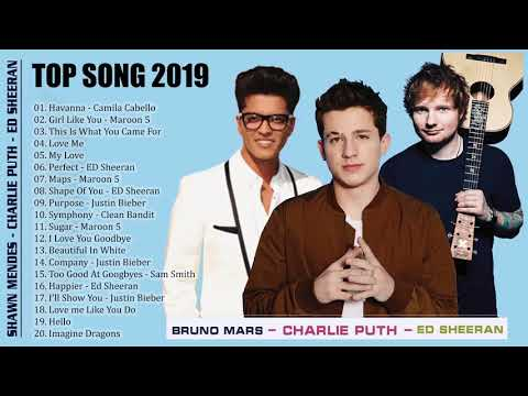 Pop 2019 Hits - Maroon 5, Taylor Swift, Ed Sheeran, Adele, Shawn Mendes, Charlie Puth, Bruno Mars