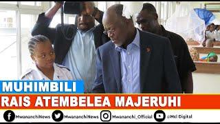 VIDEO: Magufuli awapa fedha majeruhi 43, ataka watibiwe kwa gharama za Serikali