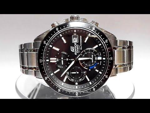 Casio Edifice EFS-S510D-1AV Saphire Solar powered watch video 2018