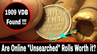 """""""Unsearched"""" Wheat Penny Rolls Bought Online"""