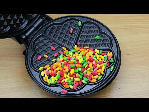 EXPERIMENT WAFFLE IRON vs RAINBOW RICE
