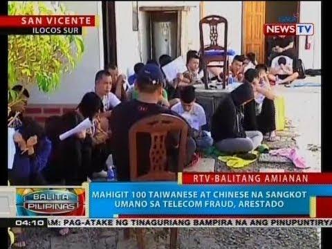 BP: Mahigit 100 Taiwanese at Chinese na sangkot umano sa telecom fraud, arestado