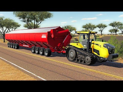 MEGA GRAIN HAULING IN AUSTRALIA - Farming Simulator 19