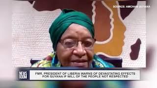 Comment by former President of Liberia & Nobel Peace prize winner, Ellen Johnson Sirleaf July 8 2020