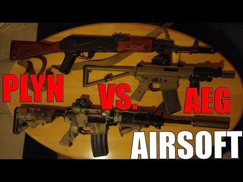 AIRSOFT - PLYN VS. AEG [NeroN]