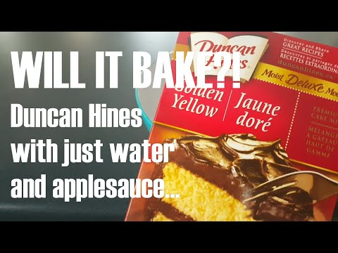 Video Duncan Hines made vegan with applesauce and water... WIL