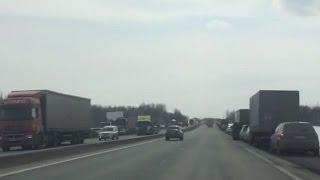 Под Казанью началась стихийная стачка дальнобойщиков