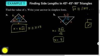 Geo 09.02 Special Right Triangles