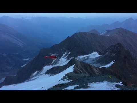 Спасательный вертолёт рухнул при посадке в горах Австрии