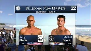 Kelly Slater Vs Michel Bourez - 2015 Billabong Pipe Masters: Round Three, Heat 4