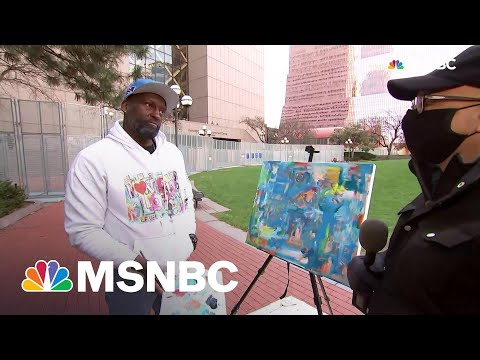 'Walking On Air': Artist Reacts To Chauvin Verdict Outside Minn. Courthouse | All In | MSNBC