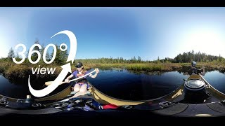 FAR NORTH ALGONQUIN CANOE TRIP - 360° VR VIDEO - DAY 1 & 2 - PADDLING / ERABLES LAKE CAMPSITE! (4K)