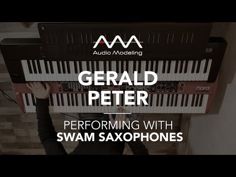 Gerald Peter performing with SWAM Tenor Sax