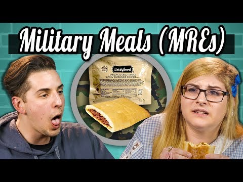 COLLEGE KIDS EAT MILITARY MEALS (MREs)! | College Kids Vs Food