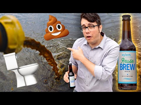 Drinking the last beer made from Berlin's toilet water