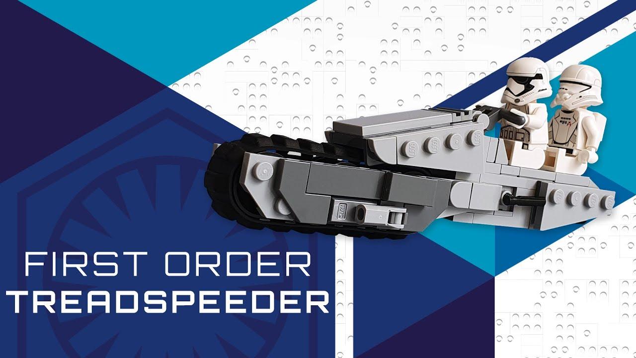 Lego Star Wars MOC - First Order Treadspeeder [TUTORIAL]