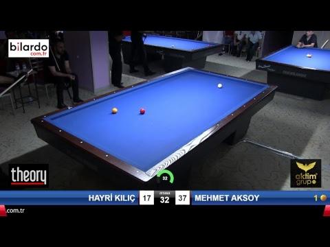 HAYRİ KILIÇ & MEHMET AKSOY Bilardo Maçı - AKSOY BİLARDO 3 BANT TURNUVASI-Yarı Final