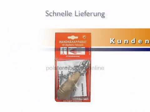 Handnähapparat mit eingebauter Fadenspule und einer stabilen Nadel - polstereibedarf-online.de