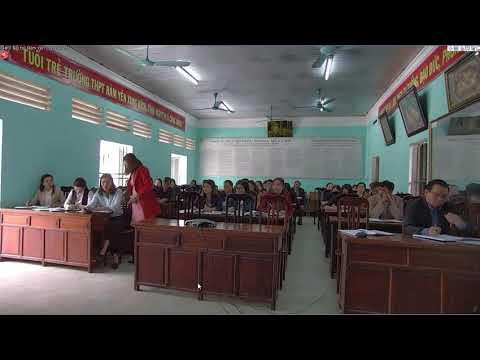 Hội thảo đóng góp ý kiến dự giờ trực tuyến của trường Tiểu học thị trấn Na Hang