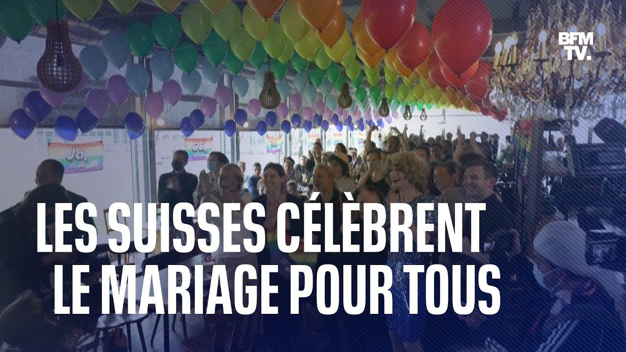 Les Suisses célèbrent l'ouverture du mariage et du droit à l'adoption aux couples homosexuels
