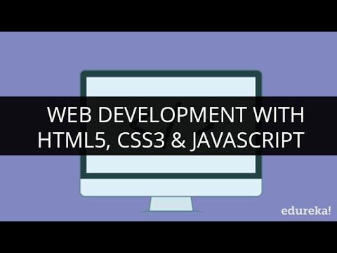 Web Development with HTML5, CSS3 & JavaScript   Edureka