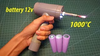 DIY. Soldering iron uses glow plug and battery