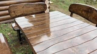 """Лавка деревянная для дачи, сада, кафе, ресторана 1200*370 от производителя от компании Группа компаний """"Промконтракт ЛТД"""" - видео"""