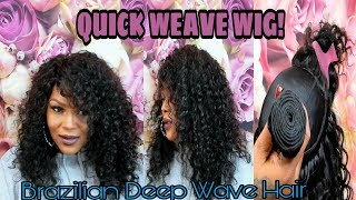 QUICK WEAVE WIG/ AMAZON ALI JULIA BRAZILIAN DEEP WAVE HAIR