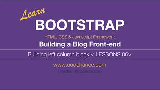 Bootstrap 3 Tutorials [COMPLETE] - Building a blog video for beginners tut # 6