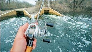 Slaying Winter Fish In HOT Water Creek (BIG BITE)