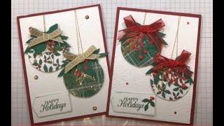 Shiny Christmas Bauble Card
