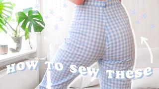 DIY Gingham Pants // 2 Different Ways!