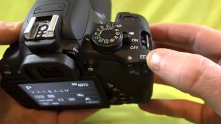 How to change the Autofocus point selection on the Canon T5i