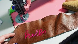 Finally Opening My Singer Chainstitch Embroidery Machine!