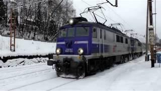 Zima pod Tatrami - Pociągi w Zakopanem
