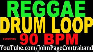 Reggae Drum Play Along Loop 90 bpm for Guitar and Bass Rock Roots