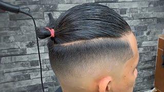 Detail FADE Step By Step Tutorial2020 /Man Bun Hairstyle