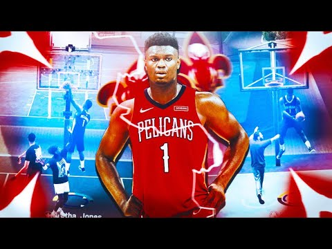 #1 Draft Pick ZION WILLIAMSON TAKEOVER  the nba 2k19 park.. CRAZY CONTACT DUNKS! pure slasher build
