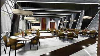Speed build | Restaurant interior REVIT+SKETCHUP+LUMION
