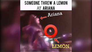 Ariana Grande Get Hit With A Lemon While Performing At Coachella