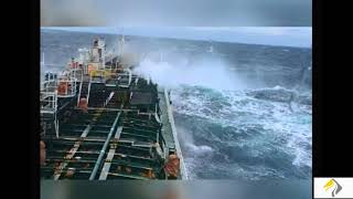 Первый рейс. Шторм. Чёрное море. Танкер. Армада Трейдер. / Storm. Black Sea. Tanker. Armada Trader.