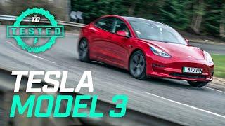 Tesla Model 3 2021 Review: 0-60mph, ride, handling, user guide & Tesla Autopilot | Top Gear Tested