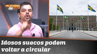 Paulo Mathias se recusa a falar da Suécia e Adrilles assume apresentação do Morning
