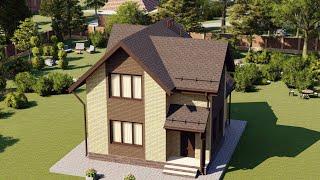 Проект дома 118-B, Площадь дома: 118 м2, Размер дома:  12,3x11,9 м