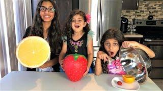 Giant Squishy Food VS Real Food Challenge!