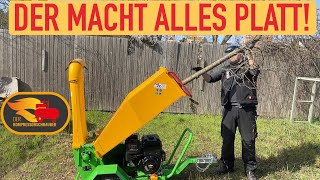 Der Victory GTS1500 Häcksler / Shredder erster Test! Der macht alles Platt! Wood Chipper