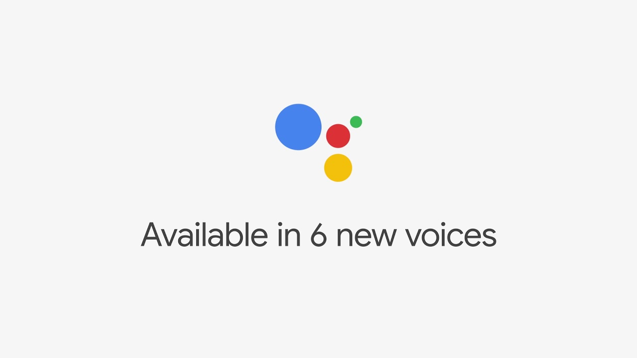 Google Assistant: 6 new voices